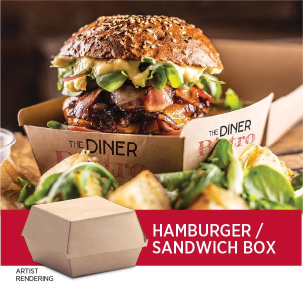 Hamburger or sandwich box